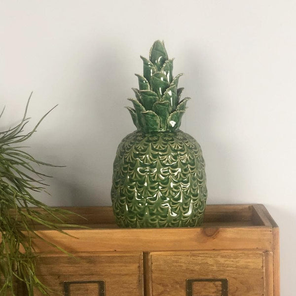 Distressed Ceramic Green Pineapple at the Farthing 1