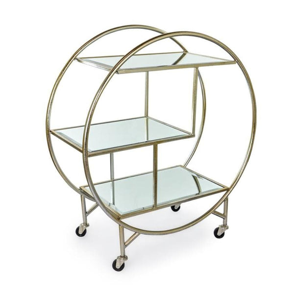 Distressed Champaign Silver Drinks Trolley at the Farthing