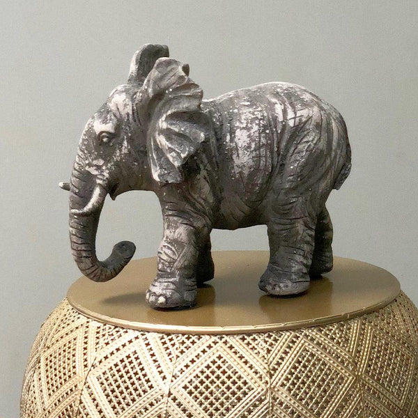 Distressed Elephant Ornament | The Farthing