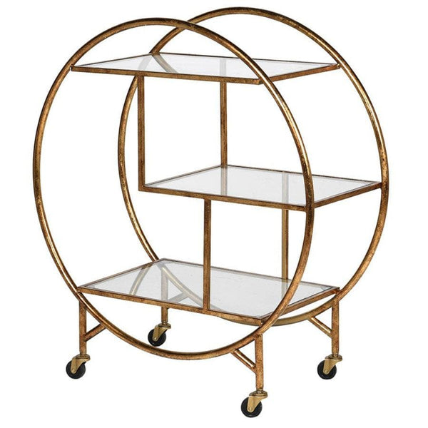 Distressed Gold Drinks Trolley