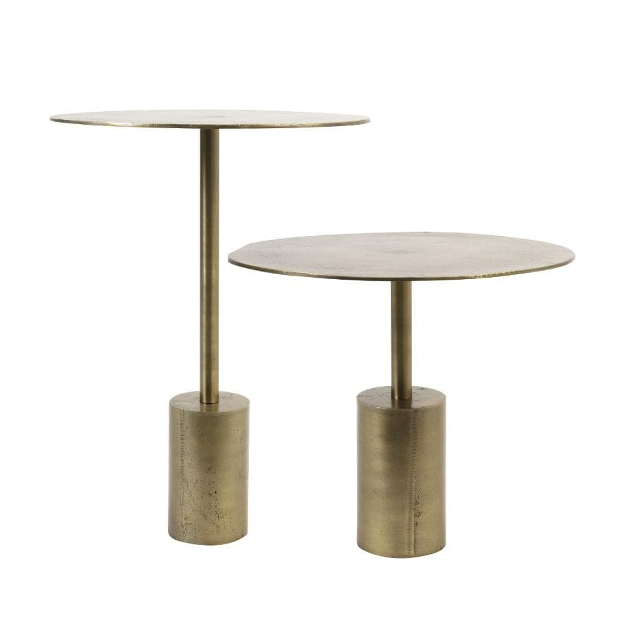 Distressed Gold Side Table - Choice of two sizes