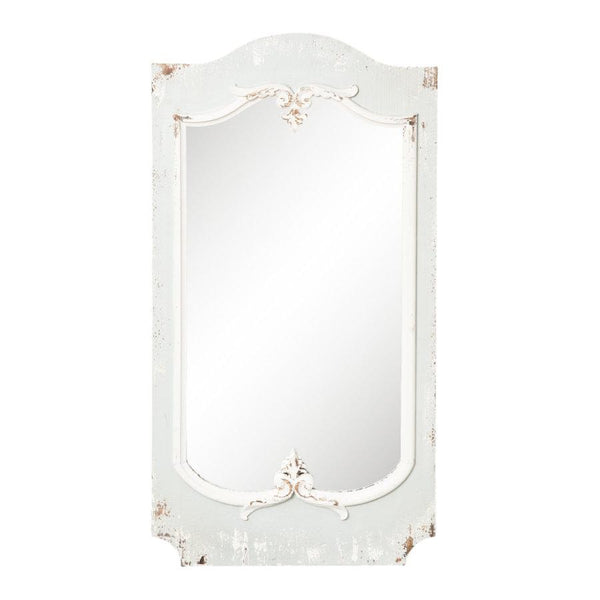 Distressed Grey French Mirror at the farthing