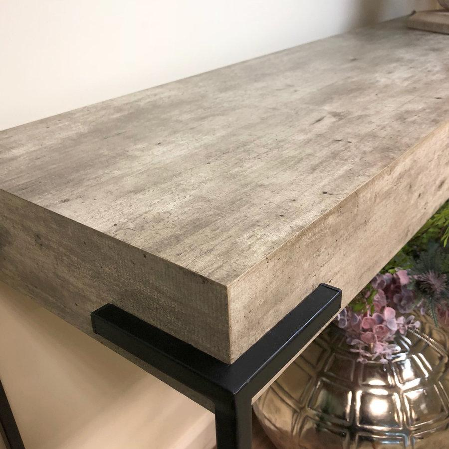 Distressed Grey Wooden Console Table at the Farthing