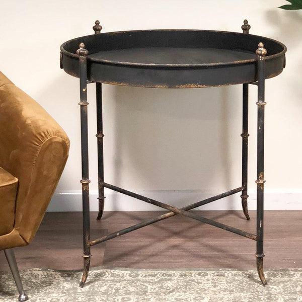 Distressed Iron Tray Table at the Farthing 1