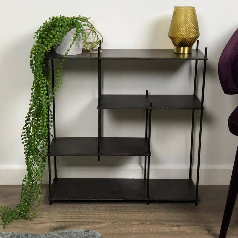 Distressed Metal Tiered Shelf at the Farthing