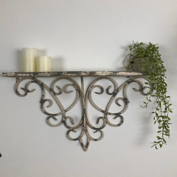 Distressed Ornate Shelf at the Farthing 11