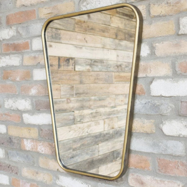 Distressed Oval Wall Mirror at the Farthing