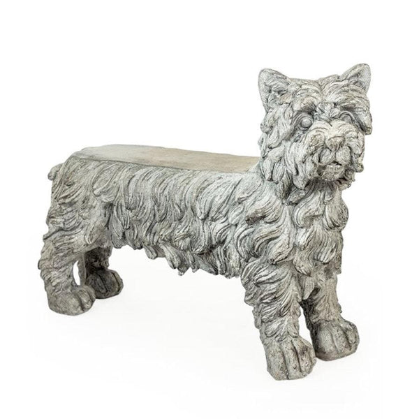 Distressed Westie Bench at the Farthing