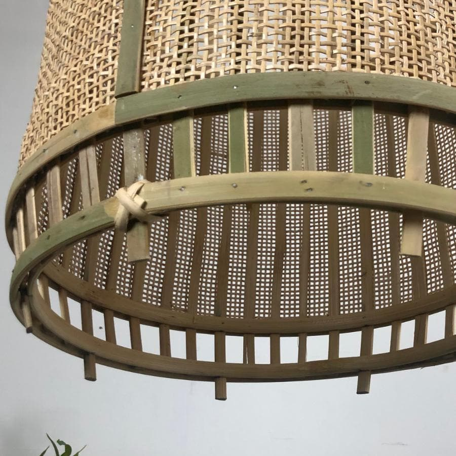Dome Bamboo Weave Pendant Light | The Farthing
