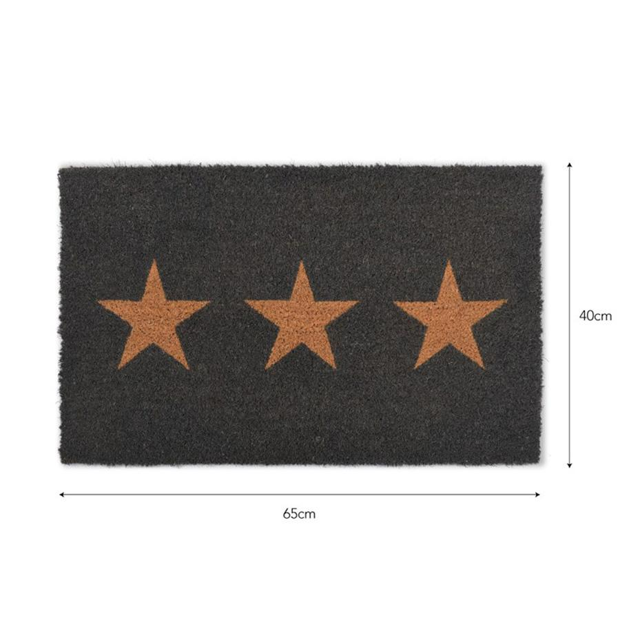 Doormat 3 Stars - Charcoal | Farthing 1