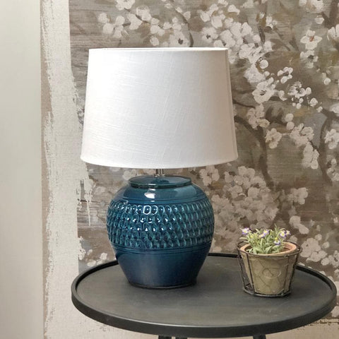 Dorset Blue Table Lamp & Shade | Farthing 2