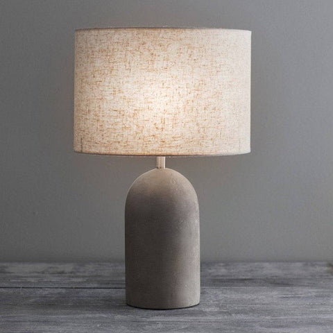Dorset Cement Table Lamp - The Farthing