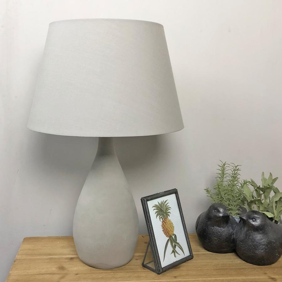 Dorset Cement Teardrop Table Lamp | Farthing 1