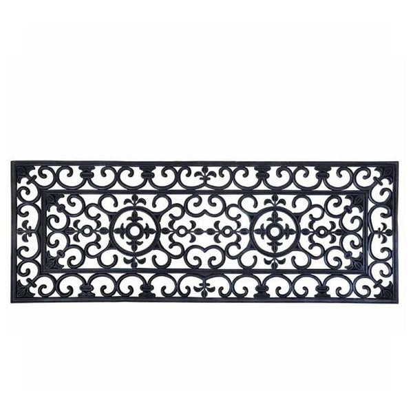 Double Door Victorian Rubber Doormat | Farthing