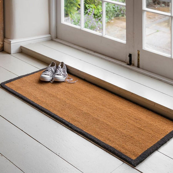 Double Doormat with Charcoal Border at the Farthing