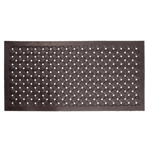 Double Door Woven Pattern Rubber Doormat at the Farthing