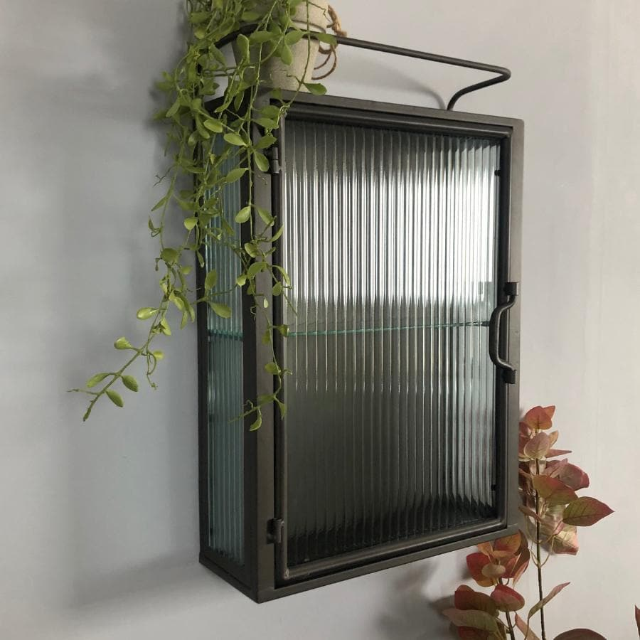 Dunster Glass & Metal Storage Wall Cabinet at the Farthing