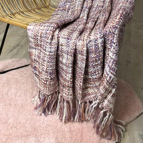 Dusted Pink Throw at the Farthing