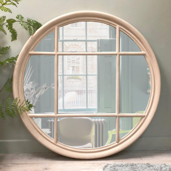 Extra Large Round Window Mirror at the Farthing