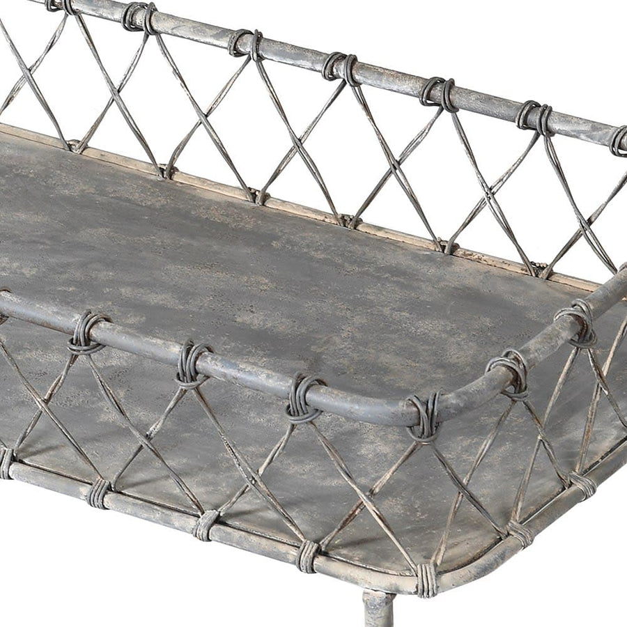 Distressed Iron Display Trolley