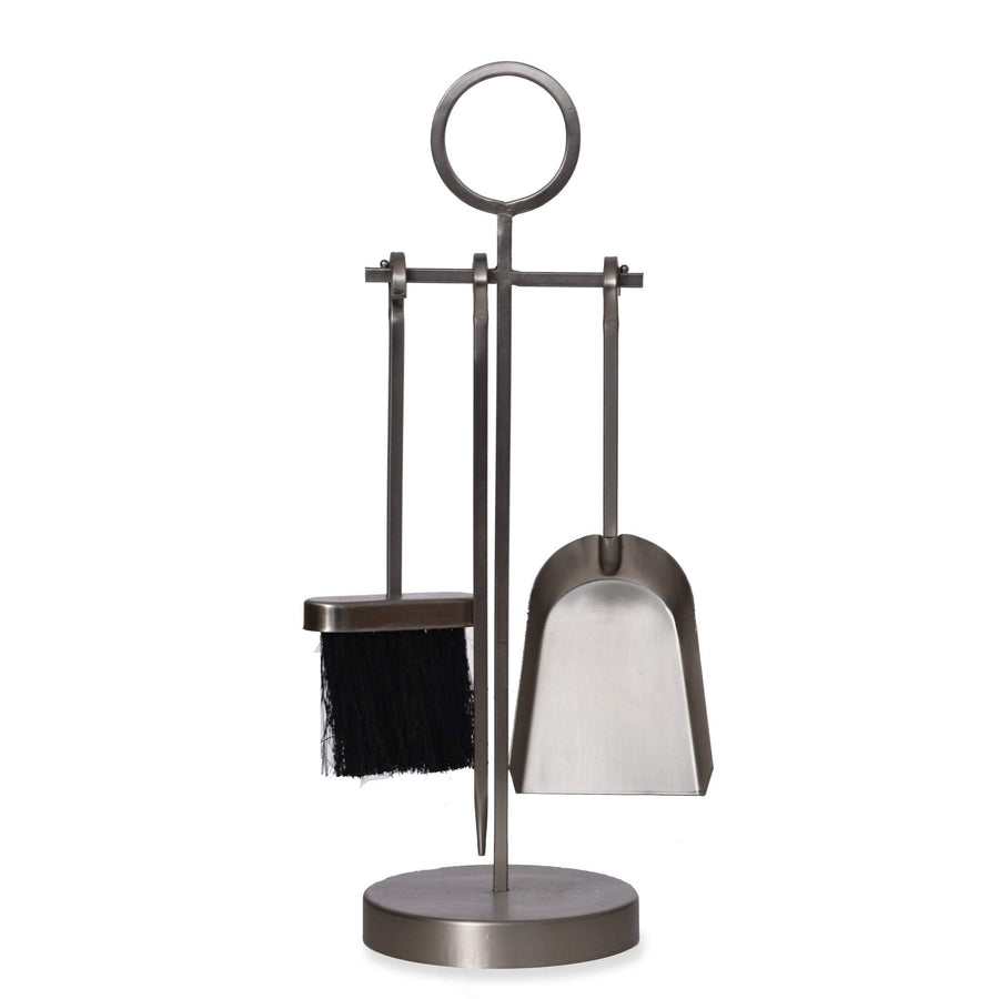 Loop Handle Fireside Companion Set - Brushed Silver 1