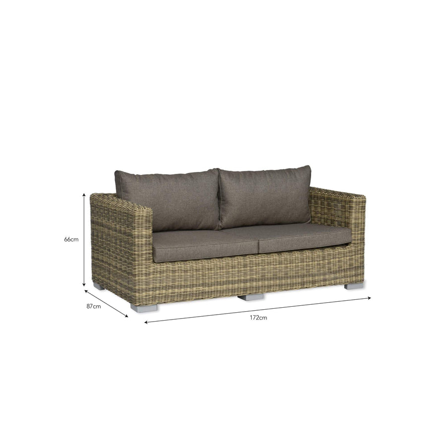 Marden Outdoor Sofa - Synthetic rattan | The Farthing