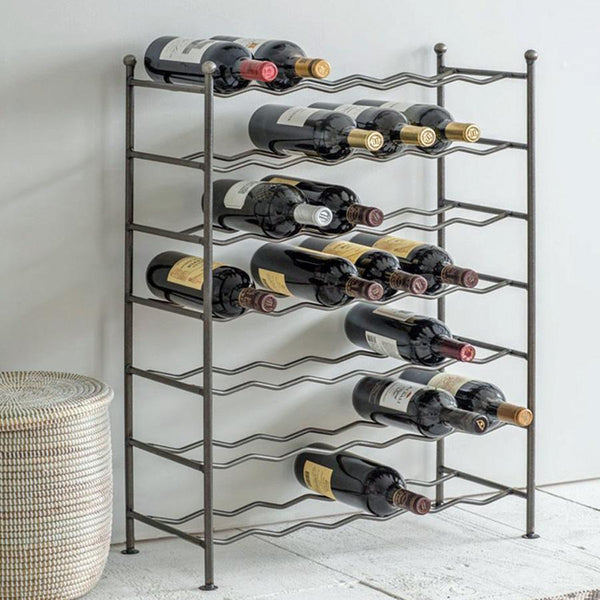 Rustic Industrial Steel Wine Rack at The Farthing