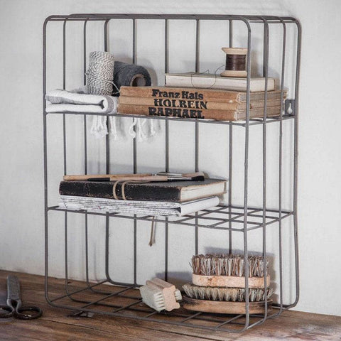 Farringdon Wirework Wall Crate - Charcoal - The Farthing