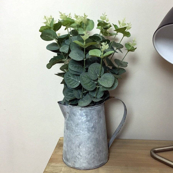 Faux Eucalyptus Sprays in Zinc Jug - The Farthing