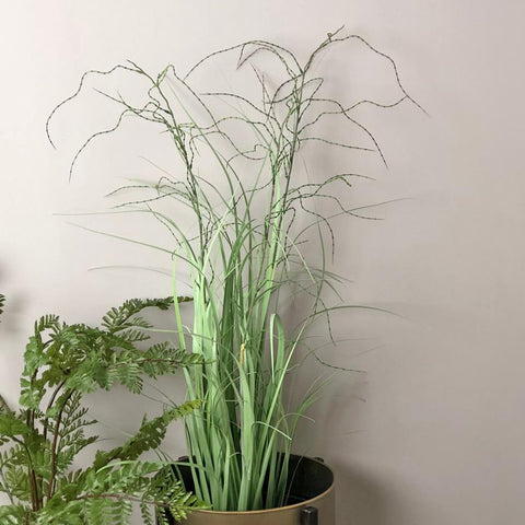 Faux Potted Ornamental Wild Grass - The Farthing