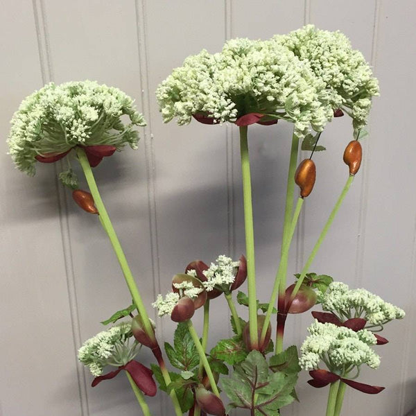 Faux Queen Anne Lace Tall Plant Stem - The Farthing  - 1