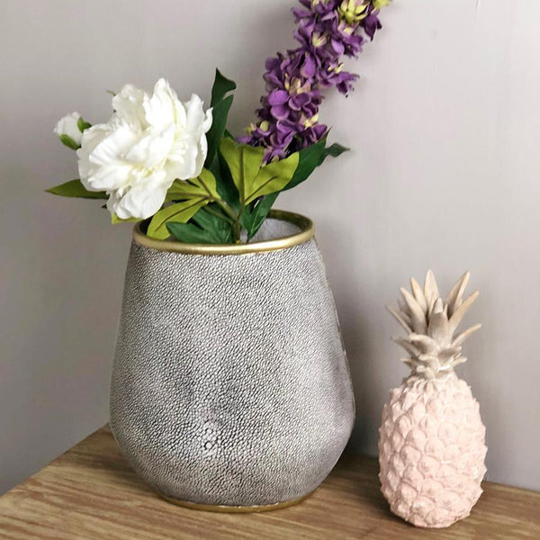 Faux Shagreen Vase at the Farthing