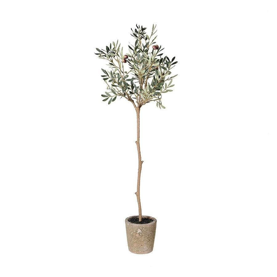 Faux Olive Tree in Garden Grey Pot at the Farthing