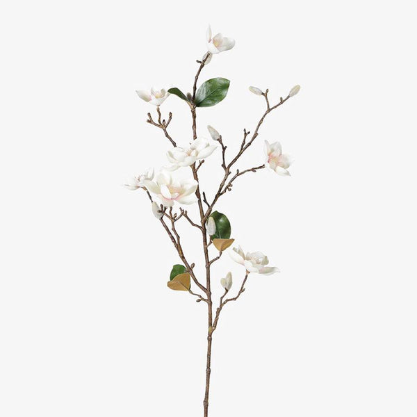 Faux White Blush Magnolia Stem at the Farthing