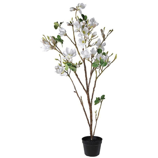 Faux White Magnolia Tree In Pot Faux House Plants The Farthing