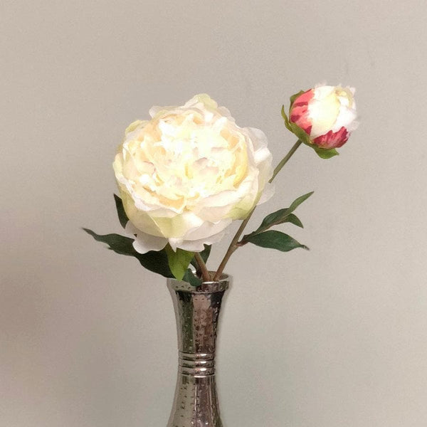 Faux White Peony Stem at the Farthing
