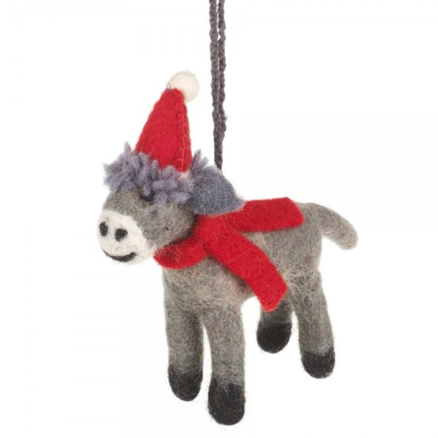 Felt Christmas Donkey Hanging Decoration 2