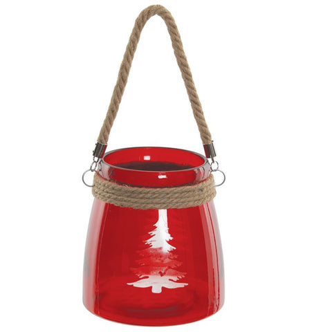 Festive Christmas Tree Candle Jar
