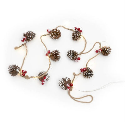 Festive Light Up Pinecone Led Garland - The Farthing