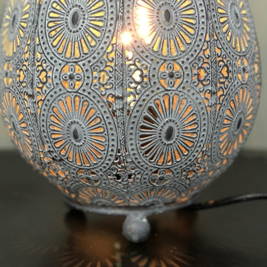 Filigree Metal Table Lamp at the Farthing 3