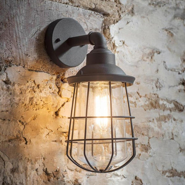 Finsbury Wall Light in Charcoal | Farthing