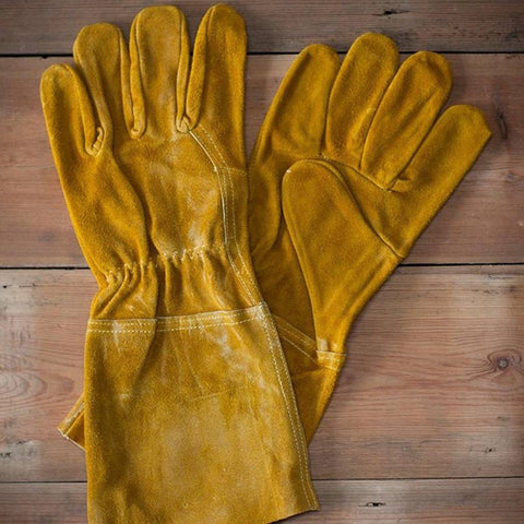 Fireside Leather Gauntlet Gloves - The Farthing