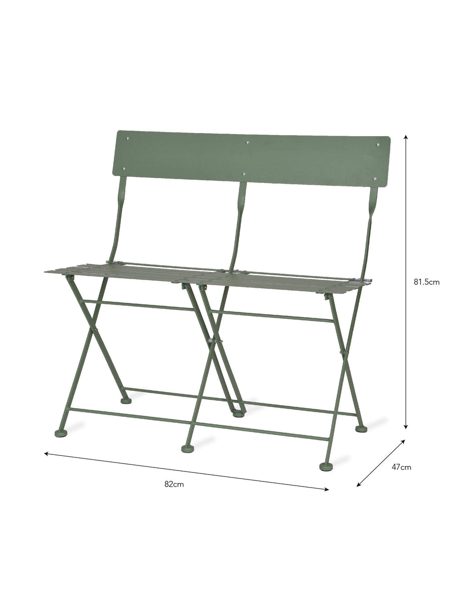 Provence Folding Bistro Bench - Green