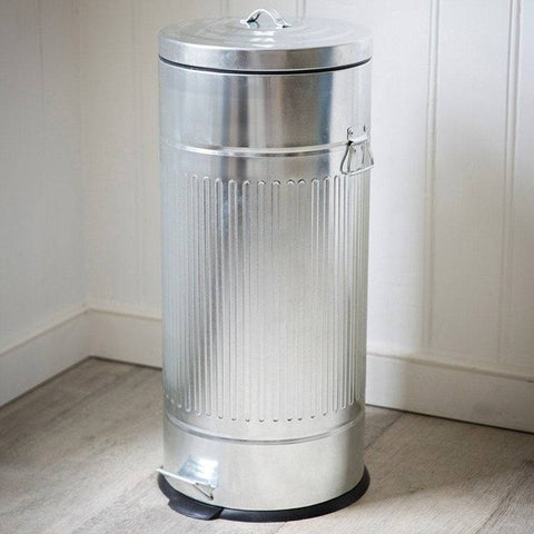 Galvanised Pedal Bin - The Farthing