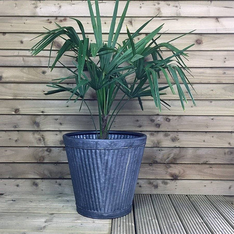 Large Round Tapered Vence Fluted Planter - The Farthing