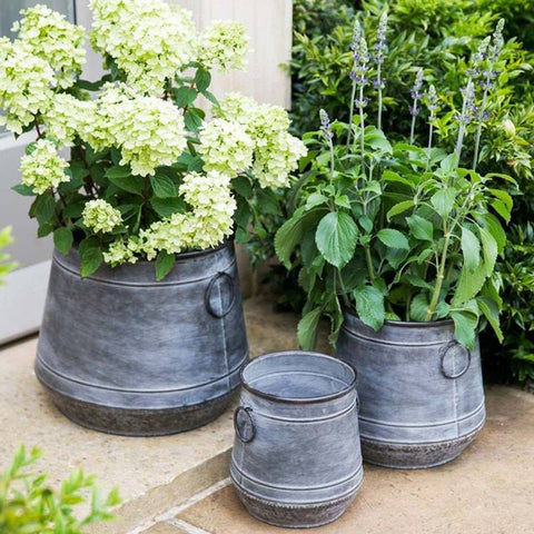 Galvanised Set of 3 Chadlington Planters - The Farthing