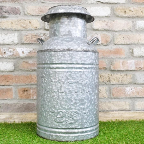 Galvanised Milk Churn Planter at the Farthing