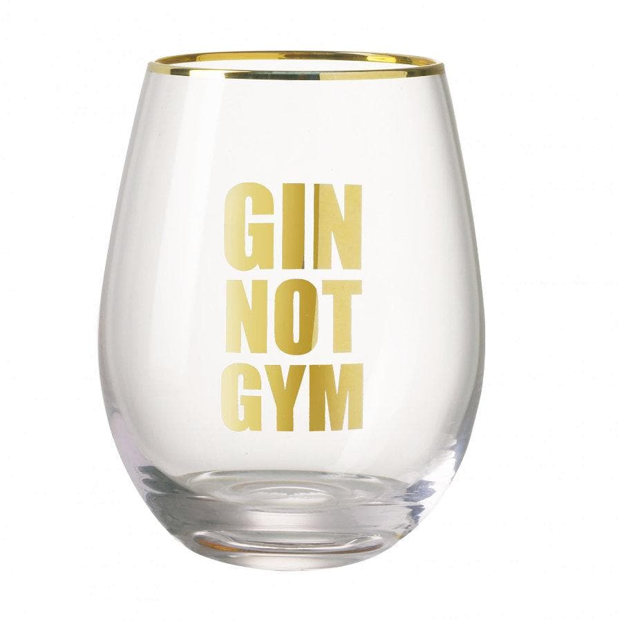 Gin not Gym Glass at the Farthing