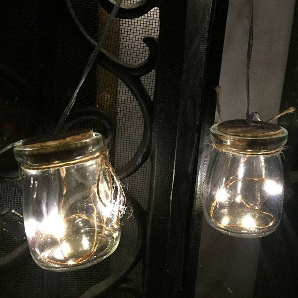 Glass Jar Light Garland x 8 - The Farthing  - 1