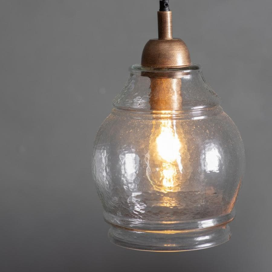 Glass Rounded Dome Pendant Light